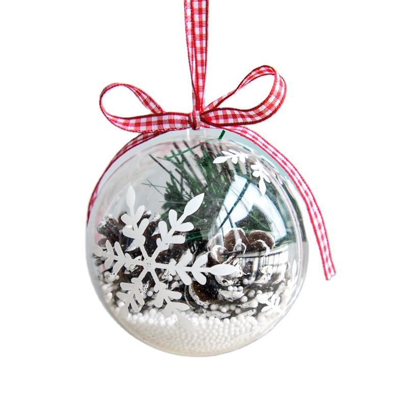 Decoration Clear Christmas Ornament Plastic Ball Transparent