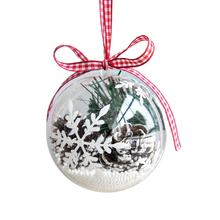 Hanging decoration clear baubles DIY christmas ornament plastic ball transparent