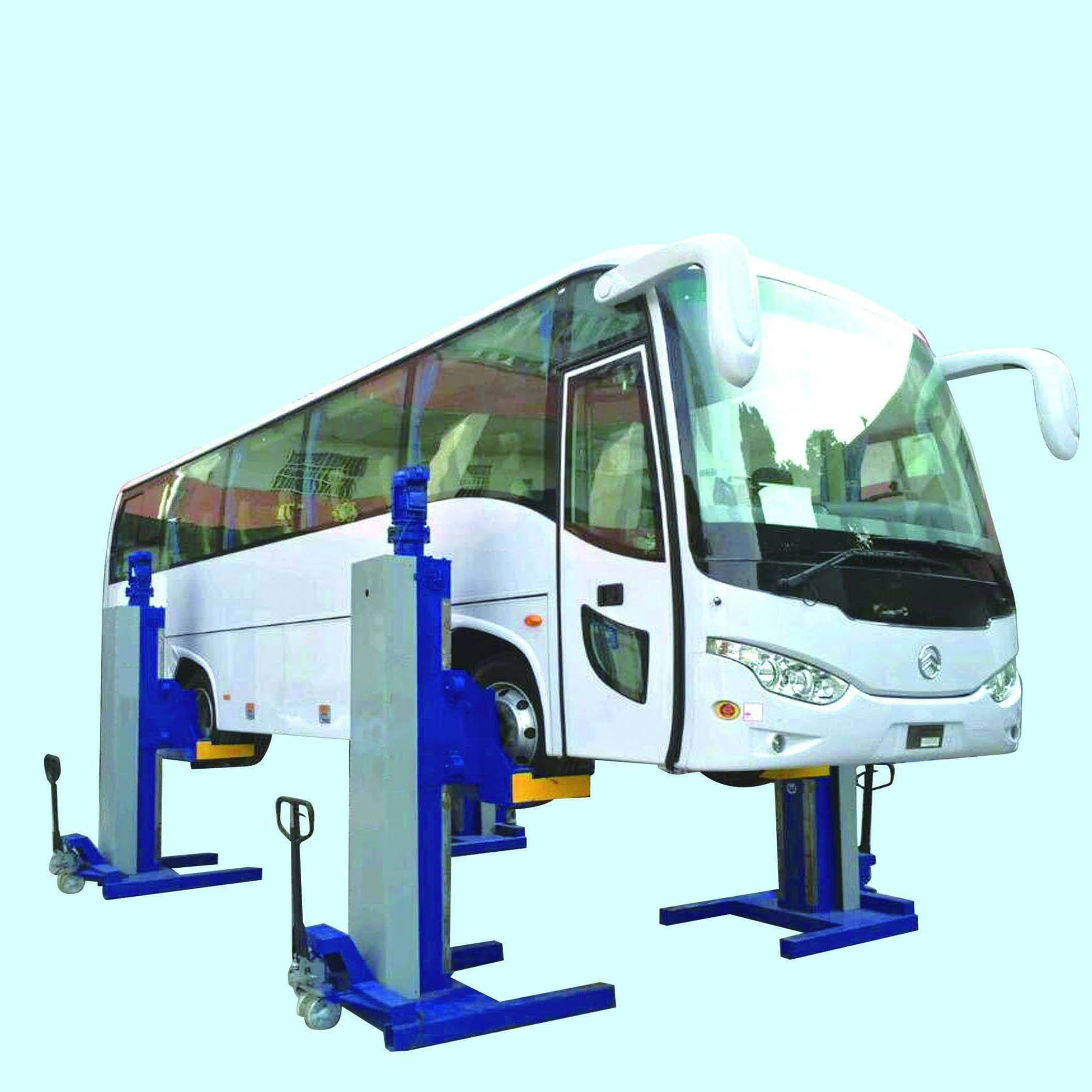 electric mechanical mobile column bus car fork lift