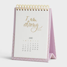 Custom Logo Printed 2021 2022 Spiral Wire-o Monthly Stand Flip Table Desktop Calendar