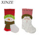 2020 new plush long beard santa stocking christmas hanging socks gift for sale