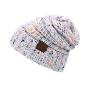 New arrival CC label knitted warm lady hat soft acrylic mix color outdoor winter hat fast shipping