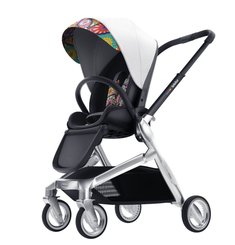 3 Wheel Magna Magnesium Alloy Baby Stroller Polyester Pu Leather Travel System