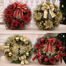 30cm Artificial Christmas Wreath for door Decorations wholesale outdoor PVC christmas garland