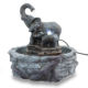 Elephant Fountain Resin Statue Tabletop Crafts Mini Elephant Water Fountain