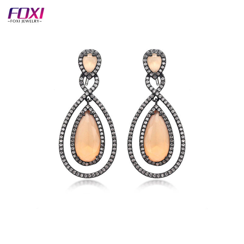Aretes Fashion Jewelry Anniversary Occasion Drop Earrings Big Fashion Ear Large Stud Piercing