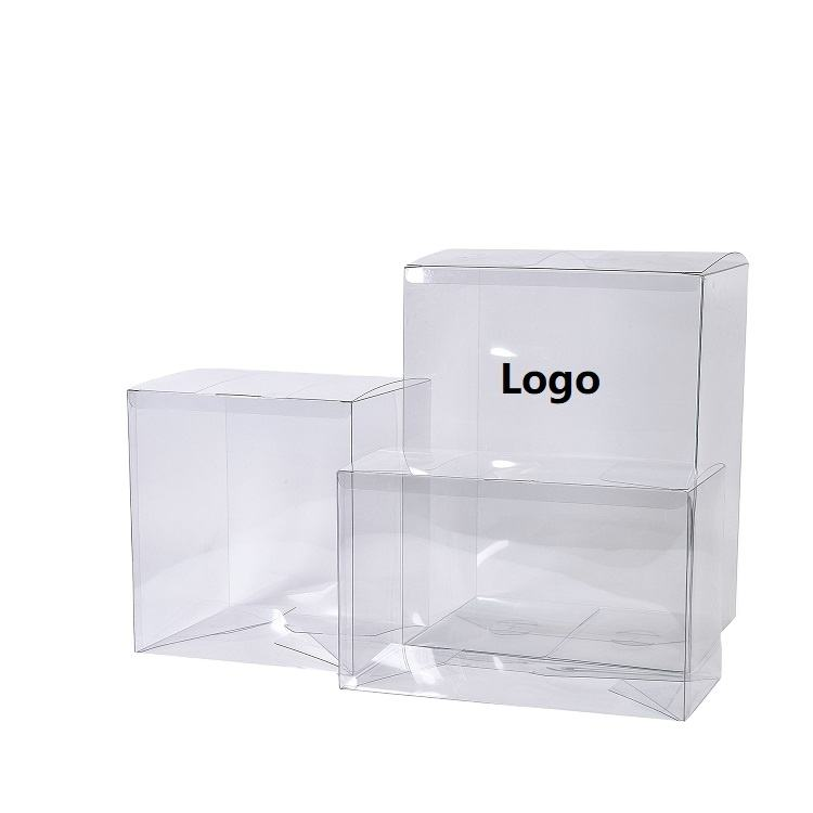 custom logo printing brand rigid clear shipping packaging plastic boxes transparent PVC cake food toy gift packaging plastic box