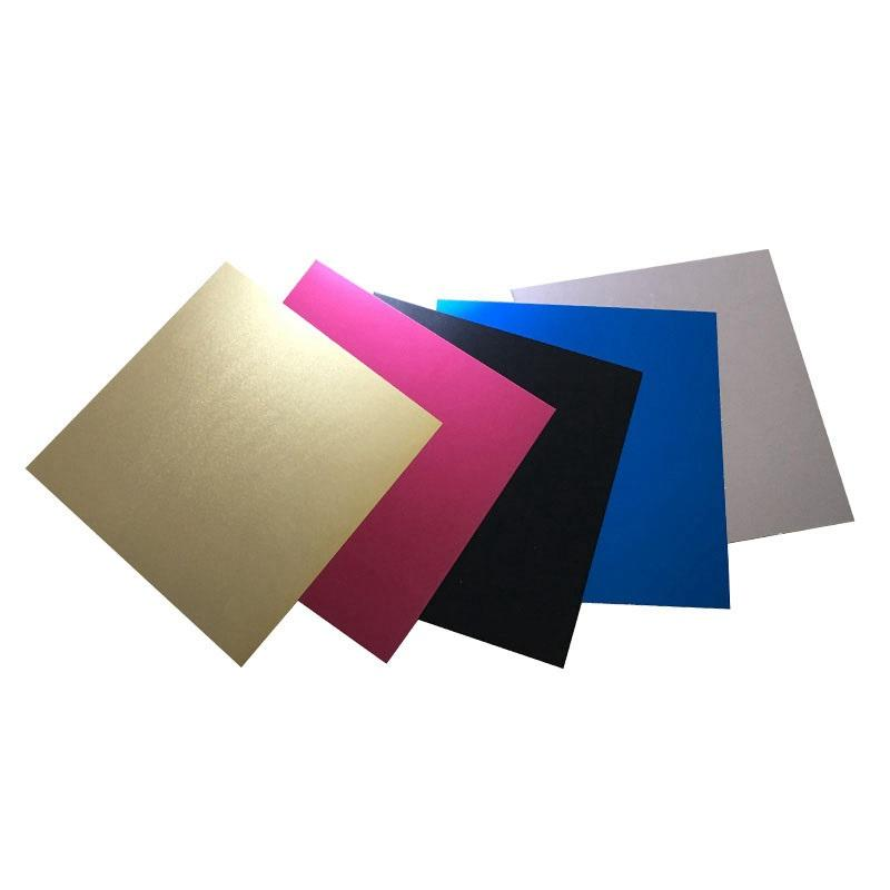 0.5mm 1.0mm thick Color blank gold black silver rose gold blue red Anodized Aluminium Plate Sheet Cards Sheet For Decoration