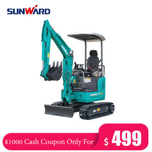 CASH COUPON SALE! Chinese Sunward All Special Models 1 Ton Mini Crawler Excavators