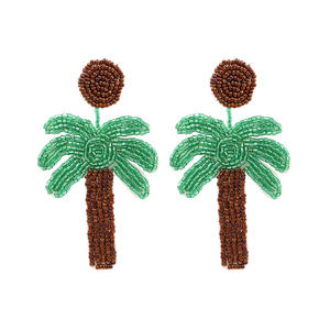 Trendy Statement Creative Funny Fruits Acrylic beads Earrings for Women Girls