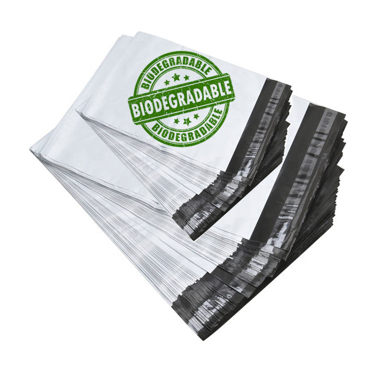Custom printed eco friendly biodegradable poly mailer shipping mailing plastic postage bags