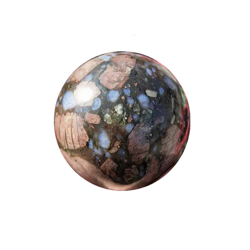 Wholesale Natural Polished Quartz Gemstones Healing Blue Amphibole Crystal Ball