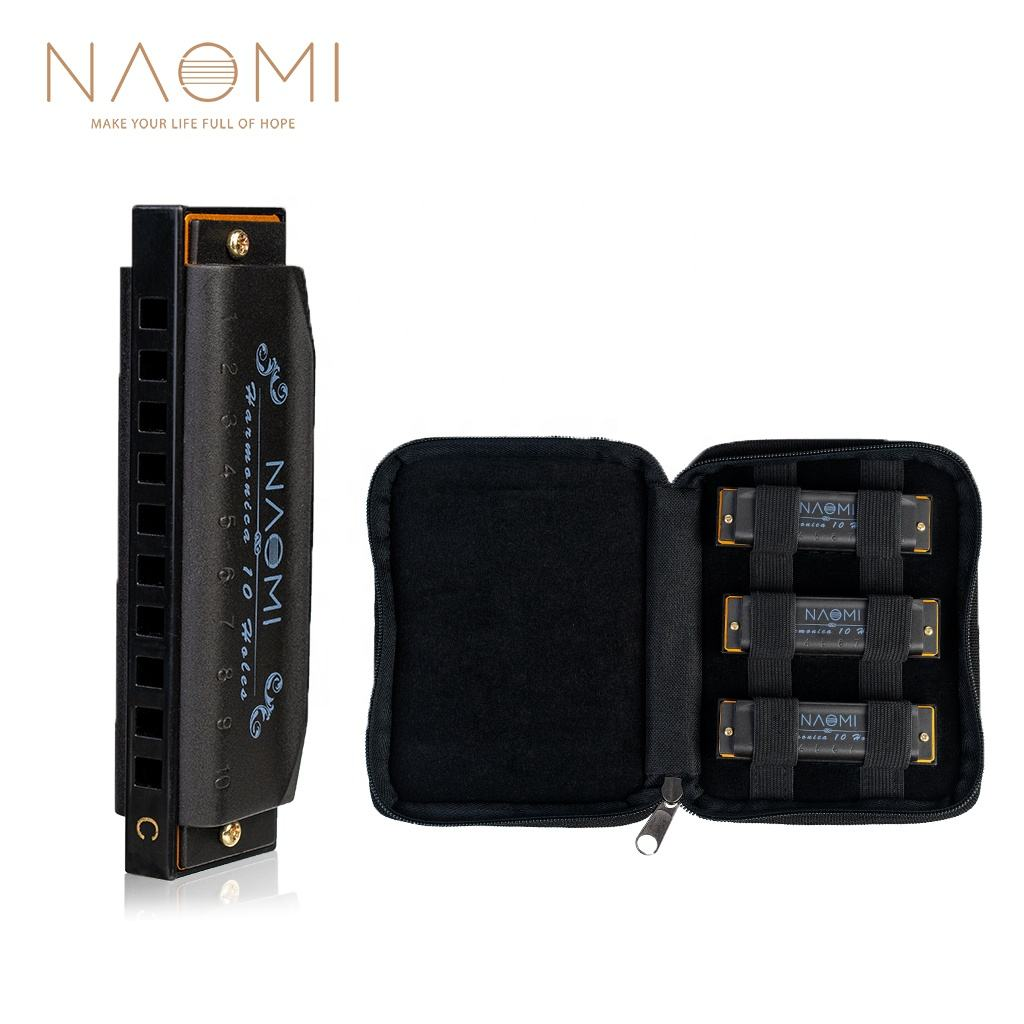 NAOMI Harmonica Hoodoo Blues 3-Pack W/Case C D G Tone Harmonica Prices