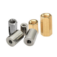 Factory manufacture brass round steel long hex coupling nut
