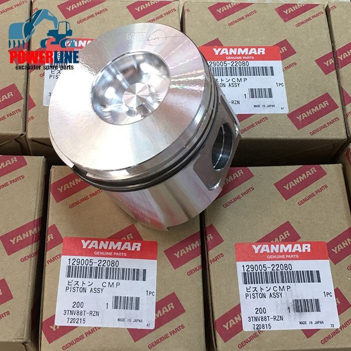 Best Quality Piston kit And Ring STD 4TNV88 3TNV88 4D88 3D88 129005-22080 for Yanmar Diesel Engine machinery engine parts