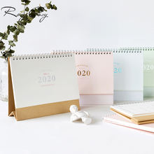Desktop Standing Coil Paper Calendar Memo Daily Schedule Table Planner Yearly Agenda 2020 Calendar