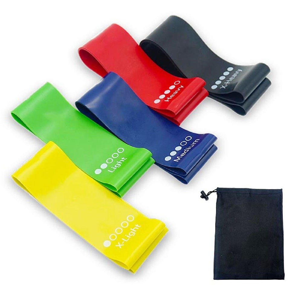 Super populaire oefening fitness 5 resistance bands <span class=keywords><strong>groothandel</strong></span> <span class=keywords><strong>weerstand</strong></span> mini loop band voor yoga workout met logo
