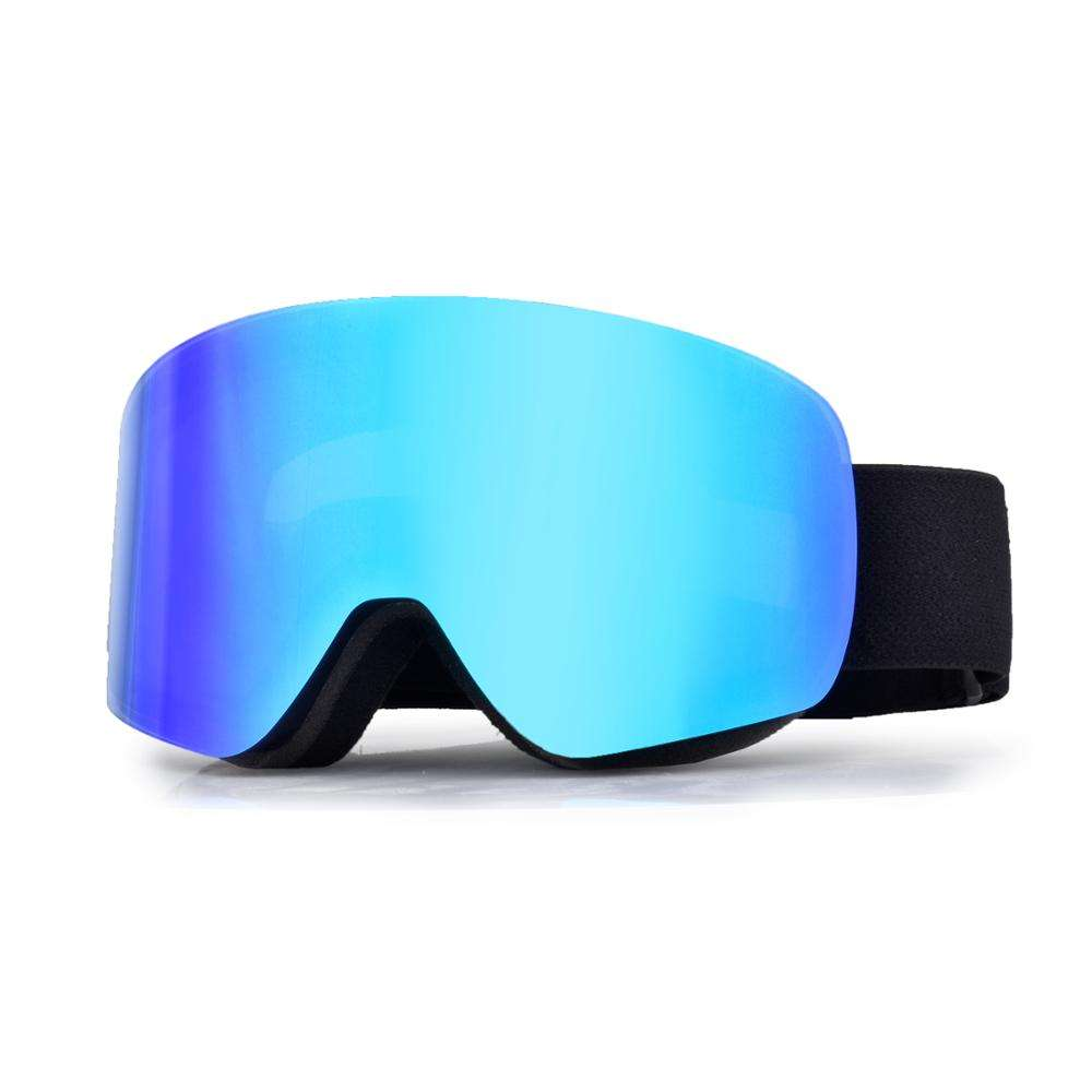wholesale New design rimless shape snowboard goggles PC lenses myopia OEM logo ski goggles with nose guard