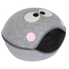 pet dog cat calming bed warm soft Felt comfortable safe pet dog cat bed simple customizable cat swing bed