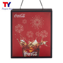 Modern popular backlit advertising light box display photography
