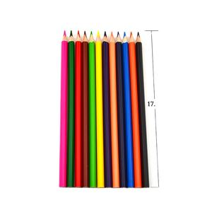 12pcs Top quality round wooden colored pencils