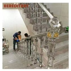 clear crystal acrylic Glass railing baluster for stairs