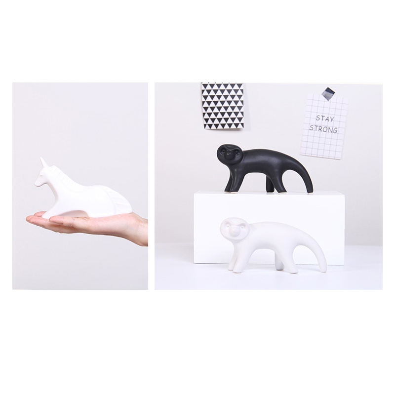 Small Furnishing Piece Home Modern Simple Desktop Decoration Ceramic Creative Animal Gift