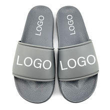 Greatshoe custom made men slippers brand name blank slide sandal,custom summer beach pvc sliders slippers for men