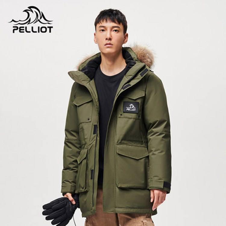 Water repellent Down Jacket Men's windproof parka 2020 long winter 90% white goose down puffer jacket