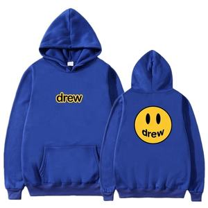 Wnab industry Fashion Hoodie Men The Drew House Smile Face Print Men Hoodies Sweatshirts Hip Hop Pullover Winter Fleece