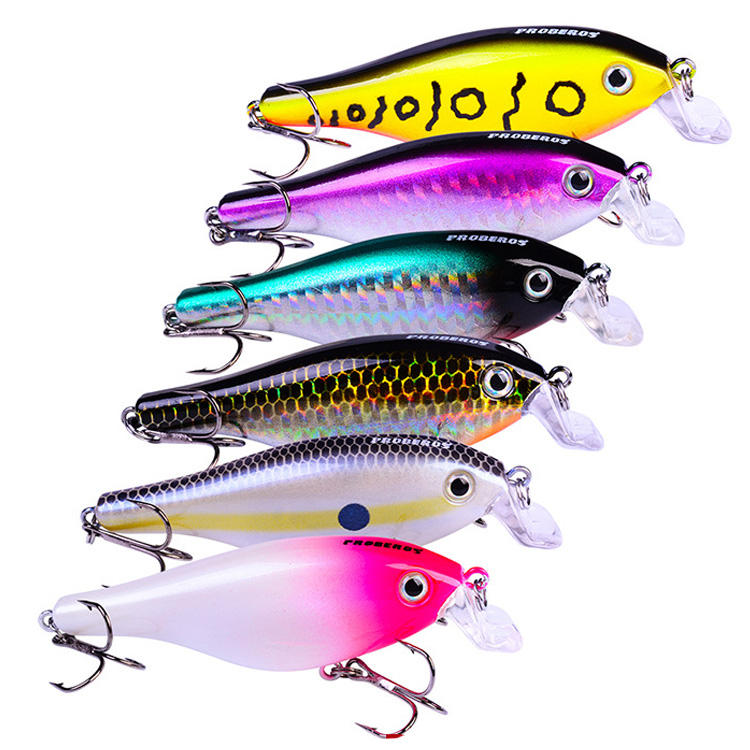 Saltwater hard crank bait top water fishing lure mini unpainted animated fishing lure