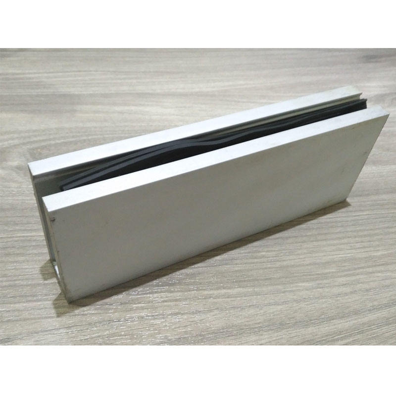 Aluminium C section aluminium channel for balcony Swimming pool glass railing profile