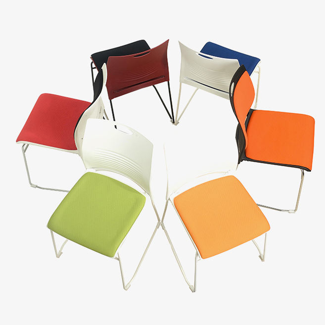 Ready to ship newest hotsell office training stackable plastic chairs