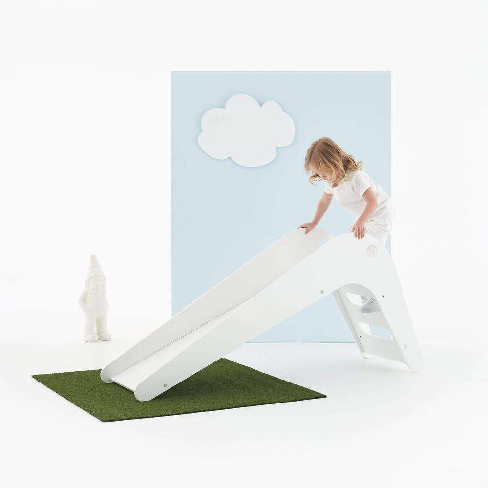Attractive Play Toy Kids White Wooden Toddler Slides And Climbers Children Indoor Slide Wood