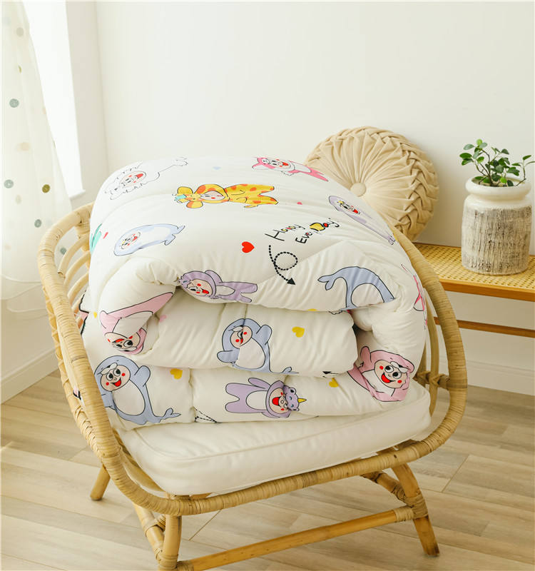 Customized color baby comforter washed bed linen duvet cover polyester quilt comforter