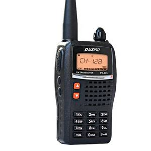 Puxing handheld walkie talkie PX-325 made in China commercial walkie talkie vhf uhf fm transceiver