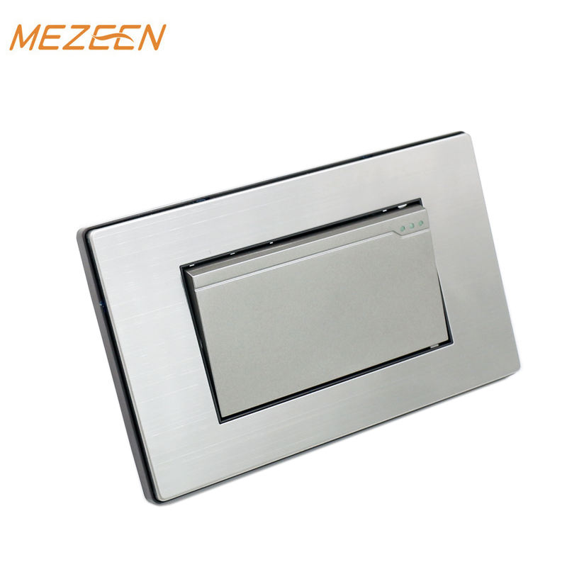 New design stainless steel 1 gang South America standard 1 pole 10-16A 110-250V wall switch and socket outlet