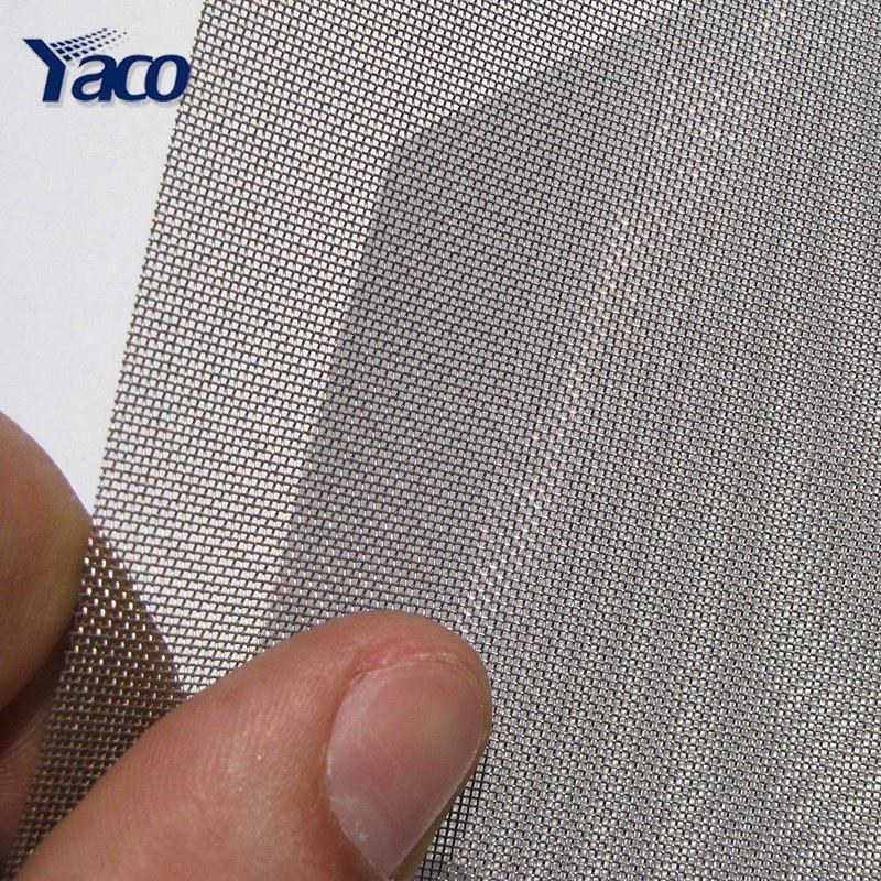 Plain weave wire mesh philippines AISI 304 304L 316 316L stainless steel wire woven micro screen fabric filter mesh net