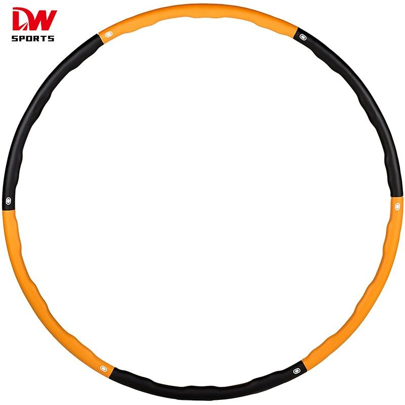 DW sports Weighted Fitness Plastic Hula Ring Flat Fitness Hoop for adults fitness