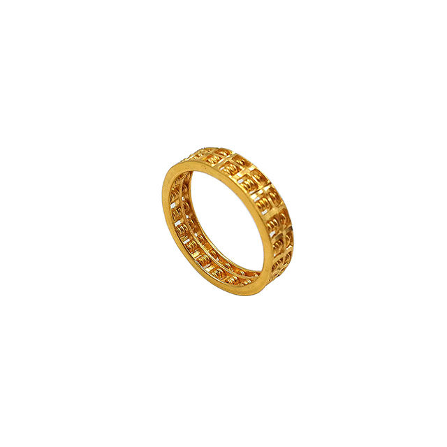Pure Gold 18K 21K 22K Jewelry Abacus Ring