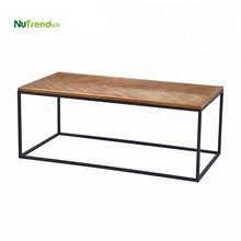 Chevron metal coffee table furniture