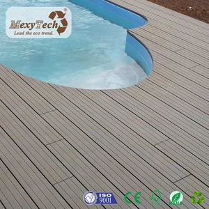 good price wood plastic composite terrace decking