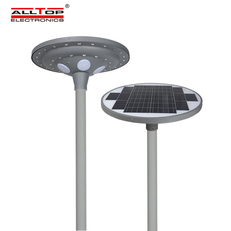 ALLTOP ip65 anti strobe high quality aluminum housing road park lighting 30w 60w led solar garden lamp
