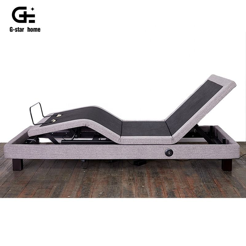 Furniture style Luxury Electric Power Adjustable Bed for Elderly Massage Power adjustable base