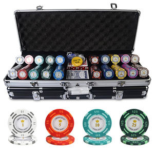 Dollaro custom design vari colori con la valigia in alluminio casino 300 500 1000 pcs argilla poker chip set