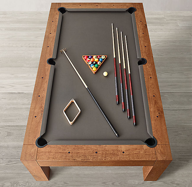 Snooker indoor outdoor games family garden teak wood pool table