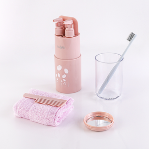Portable travel Toothbrush cup custom makeup bag travel toiletry bag for travel tooth brush holder