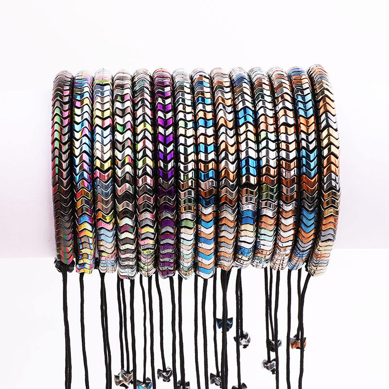 New Design Colorful Hematite Beads Handmade Cord Braided Beads Macrame Bracelet Men Women