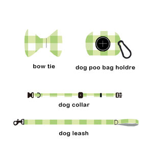 Custom Logo Sublimation Printing Adjustable Pet Dog Harness and Leash