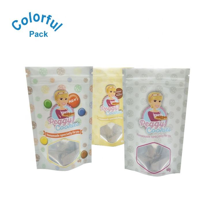 Resealable cookies packaging mylar ziplock cookies smell proof bag cookies package